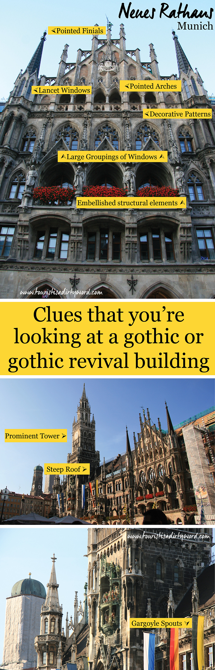Clues that you're looking at a gothic or gothic revival building • Germany Travel Blog Tourist is a Dirty Word