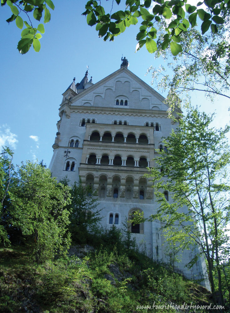 Neuschwanstein Castle Facade • Germany Travel Blog Tourist is a Dirty Word
