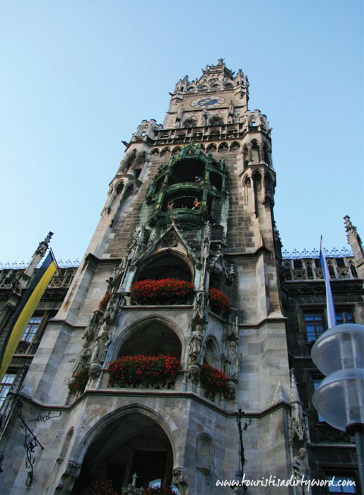 Munich Neues Rathaus New Town Hall Tower and Glockenspiel • Germany Travel Blog Tourist is a Dirty Word