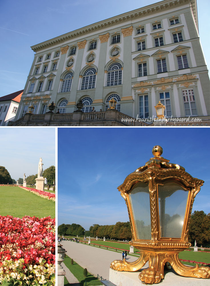 Nymphenburg Palace Flowers and Outdoor Lamps, Munich • Germany Travel Blog Tourist is a Dirty Word