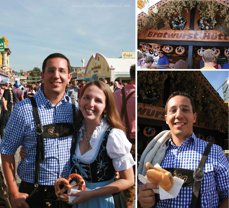 Munich Oktoberfest Food Vendors Outside the Tents