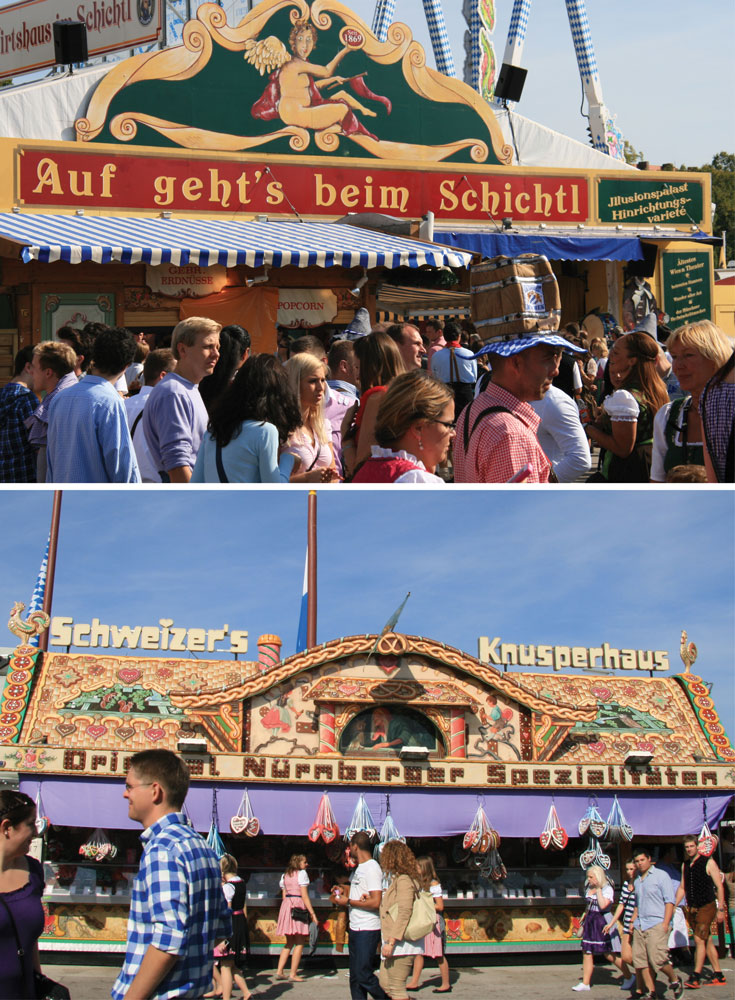 Munich Oktoberfest Food Vendors Outside Beer Tents