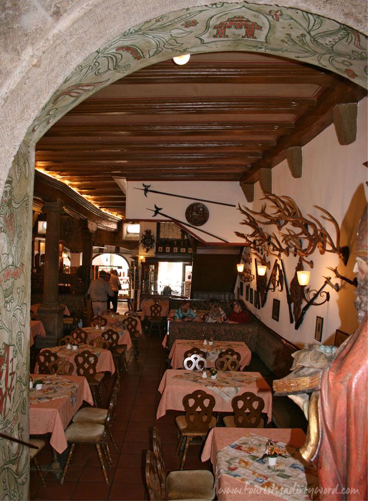 interior dining room of Baumeisterhaus in Rothenburg ob der Tauber, Germany