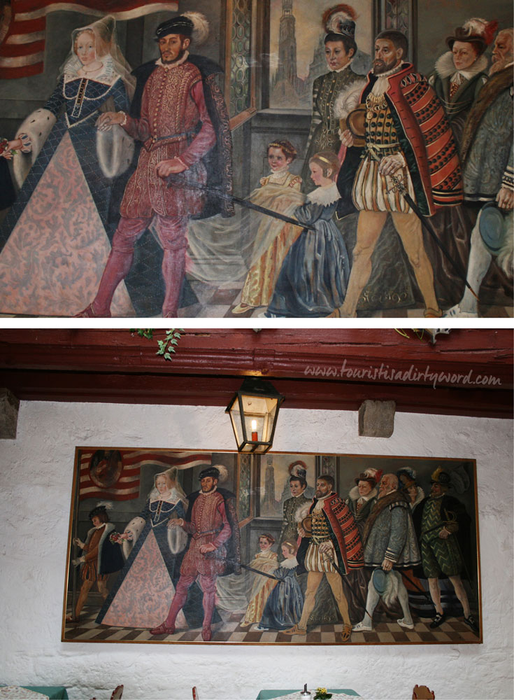 Painting on the wall from Baumeisterhaus in Rothenburg ob der Tauber, Germany