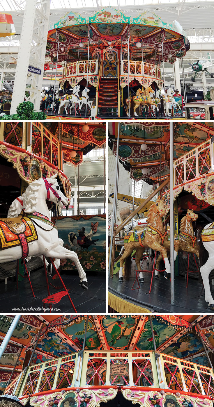 Technik Museum in Speyer has a functioning two-story carousel from the 1850s