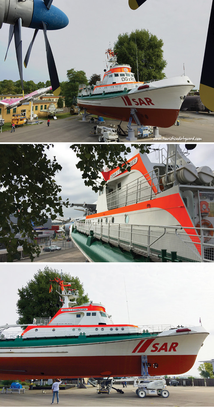Climb aboard the rescue ship 'John T. Essberger' at the Technik Museum in Speyer, Germany