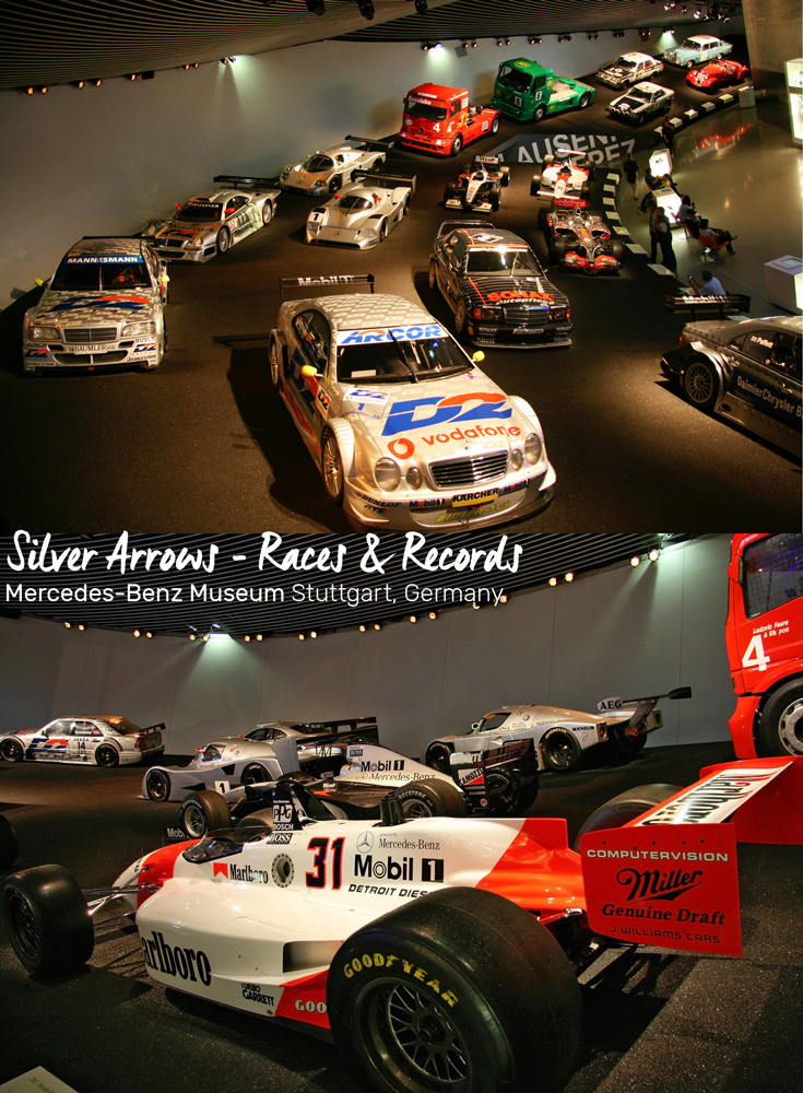 Legends 7 Platform, Silver Arrows - Races & Records at the Mercedes-Benz Museum in Stuttgart, Germany