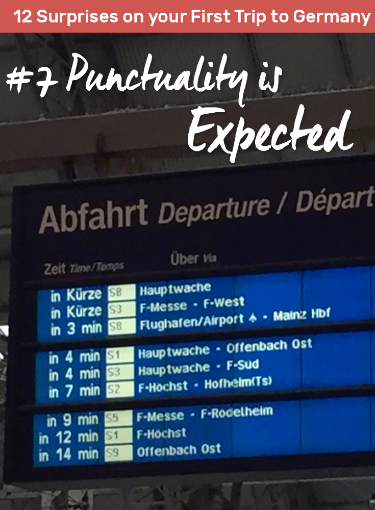 What will surprise you on your first trip to Germany? Punctuality is expected.