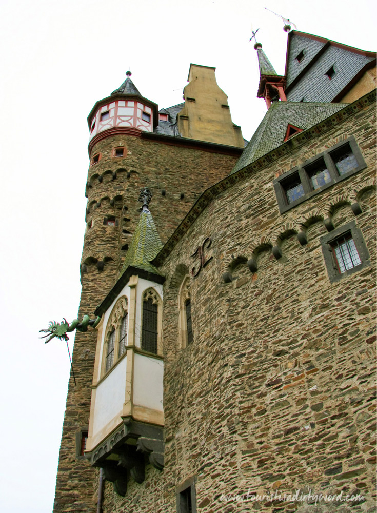 Medieval German Castle Burg Eltz is a blend of Romanesque to Baroque architectural styles.