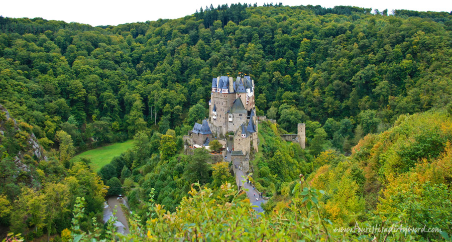 Nestled in a beautiful wooded valley, Burg Eltz in Germany.