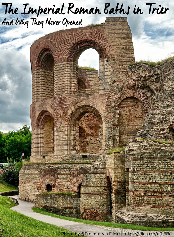 Photo by Flickr User Freimut | Kaiserthermen in Trier | (CC BY-NC-SA 2.0)