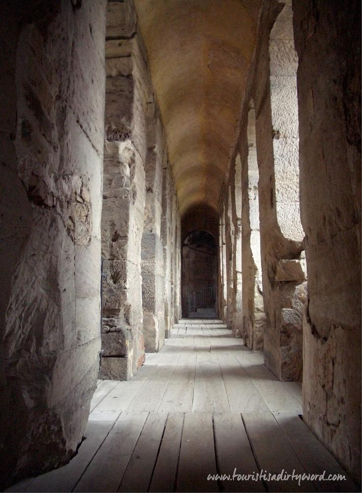 A corridor in the Porta Nigra, Trier