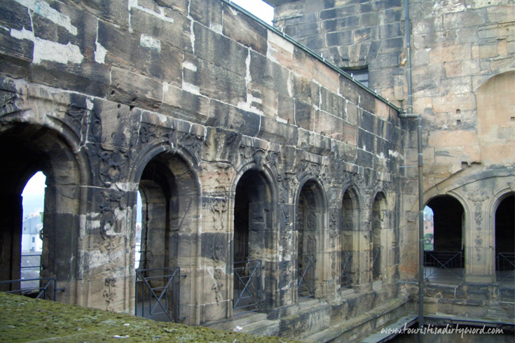 The inner courtyard of the Porta Nigra, Trier
