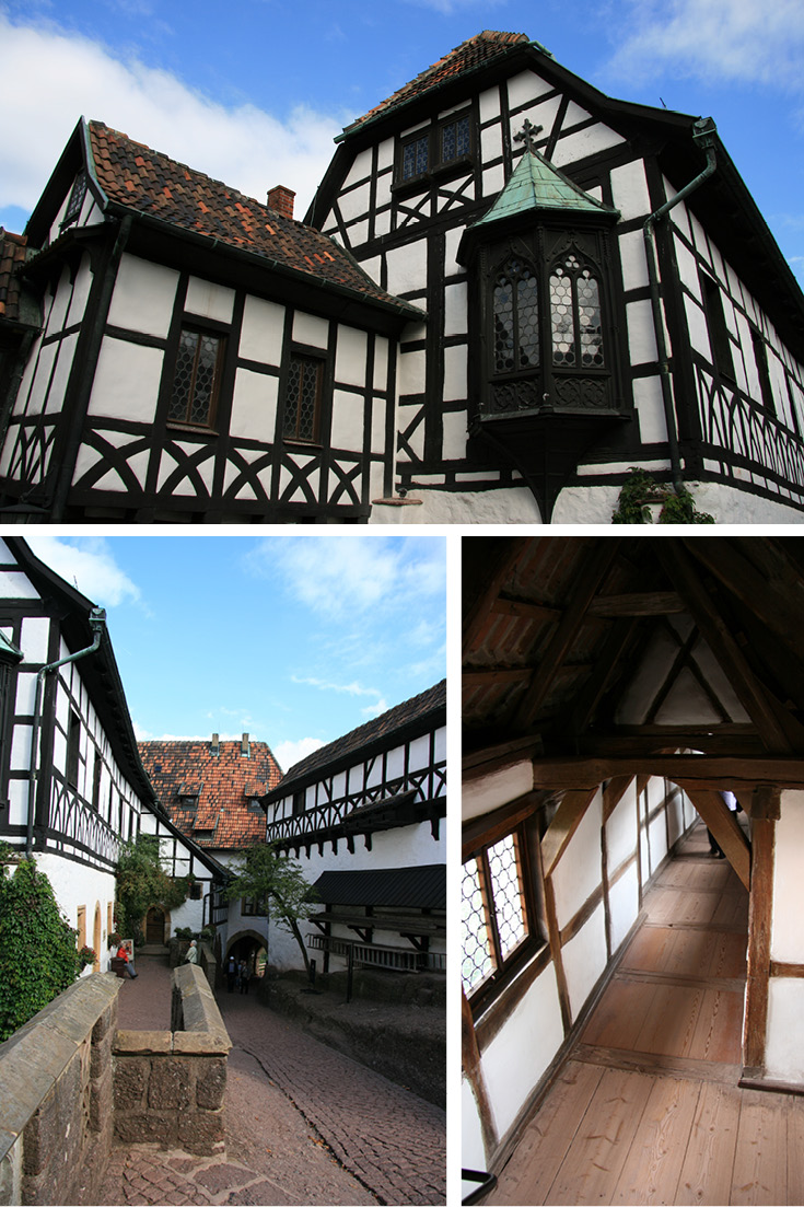 Wartburg Vogtei (castle bailiff lodge) has a copy of the late Gothic oriel on the South Side. The Vogtei is where you'll find Martin Luther's room.
